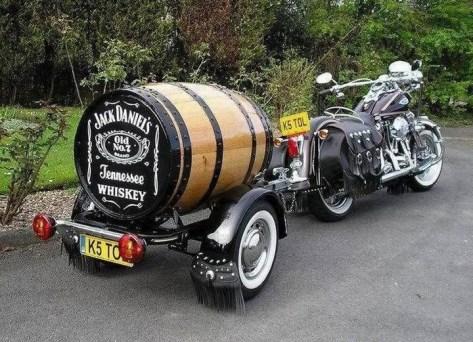 Jack Daniels barrel trailer - custom motorcycle trailer