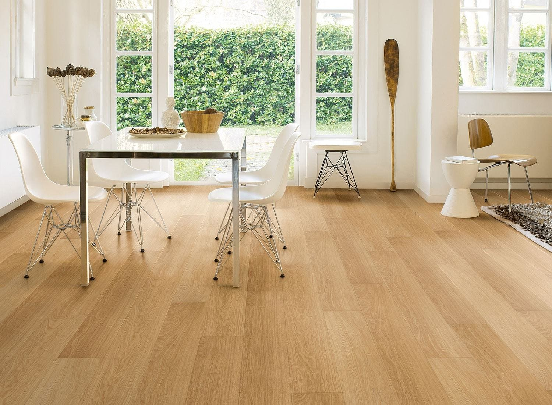 Fußboden Laminat ~ Fußboden laminat eleganter und heller fußboden in holzoptik
