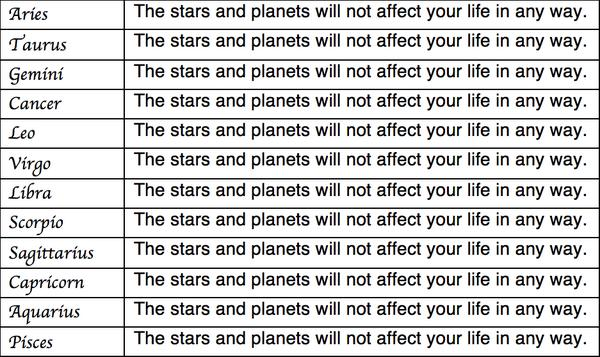 New astrology chart released \
