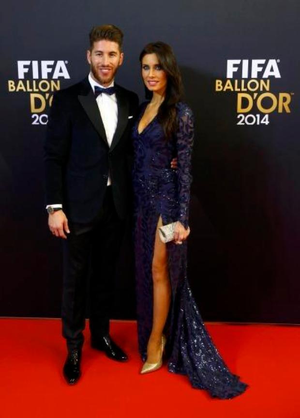 B7MqcVmCUAA7gUR Sergio Ramos girlfriend Pilar Rubio was a big hit at the Ballon dOr [Vine & Pictures]