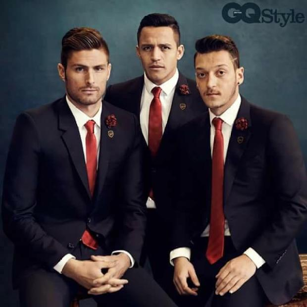 B 9wa3nWEAAi306 Arsenals Olivier Giroud (obviously) & Alexis Sanchez model for GQ Style [Pictures & Video]