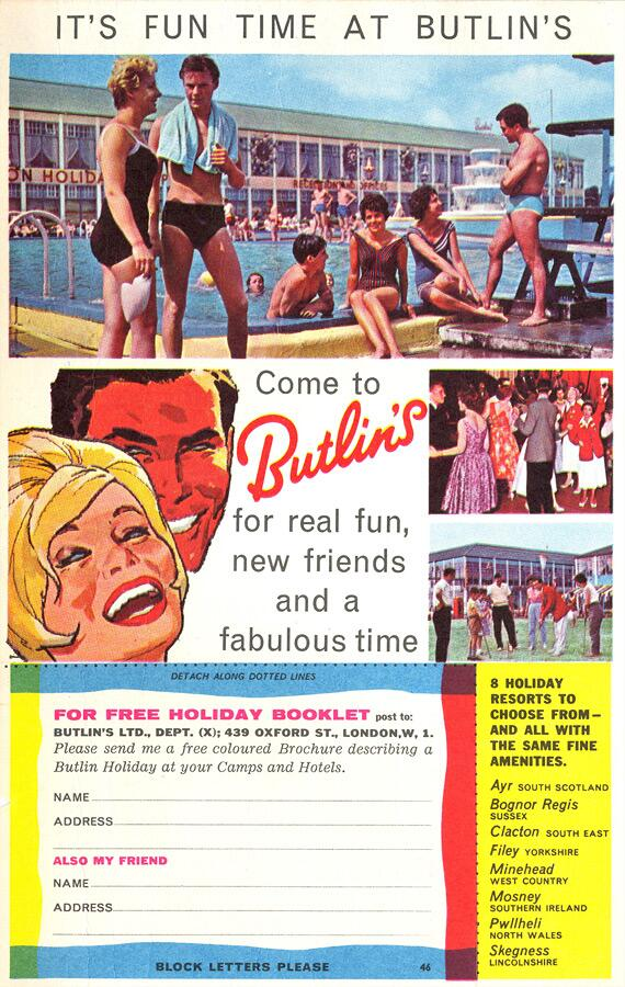 Billy Butlin at Skegness Camp EVERY PICTURE tells a story - advertisement brochure