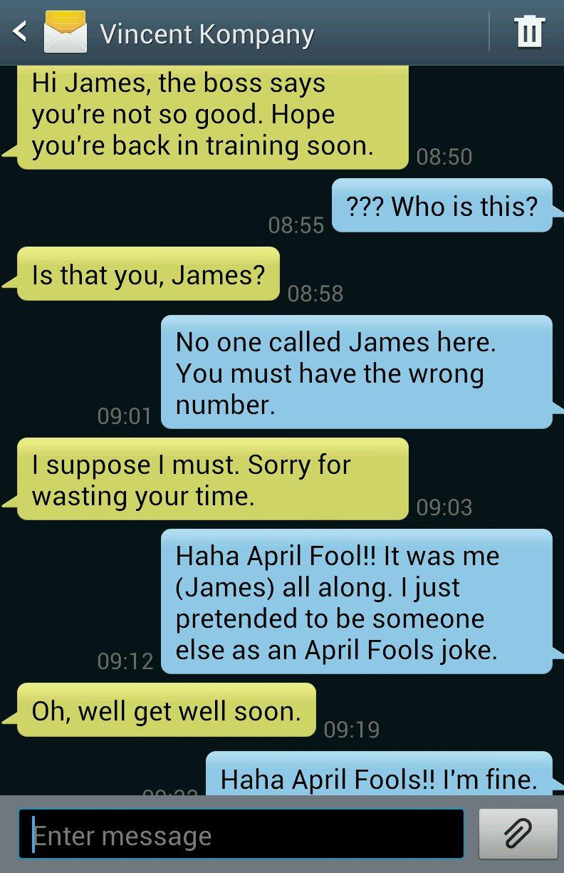 Phone Call From Your Girl Wallpaper Boring James Milner On Twitter Quot I Played An April Fools