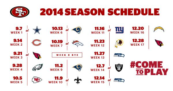 49ers 2014 schedule Cell phone, desktop wallpaper, Google Calendar