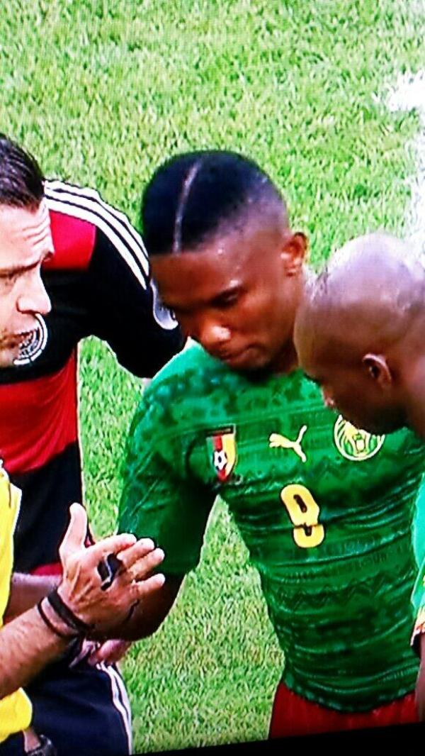 BpENPhZIAAAZy f Samuel Etoo shows off horrendous new hairstyle during Cameroon v Germany friendly [Pictures]