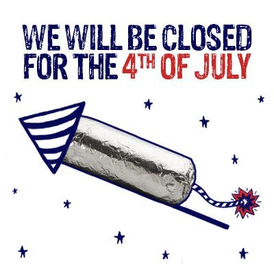 Most of our us restaurants will be closed july 4th enjoy the