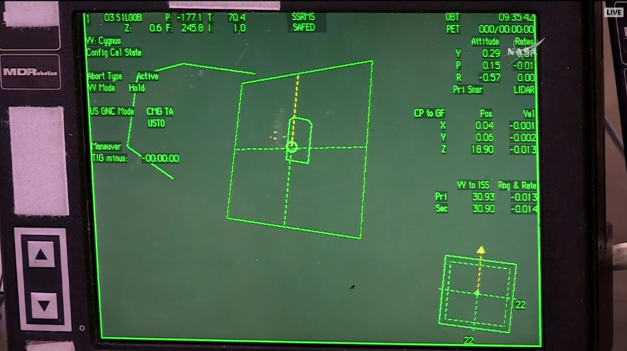 Cupola rws setting up for cygnus to move to the 10 meter mark, which