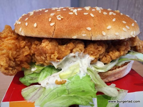Medium Of Kfc Zinger Sandwich