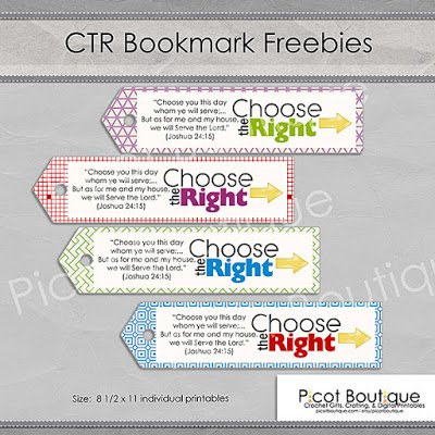 CTR - LDS BOOKMARK FREEBIE!
