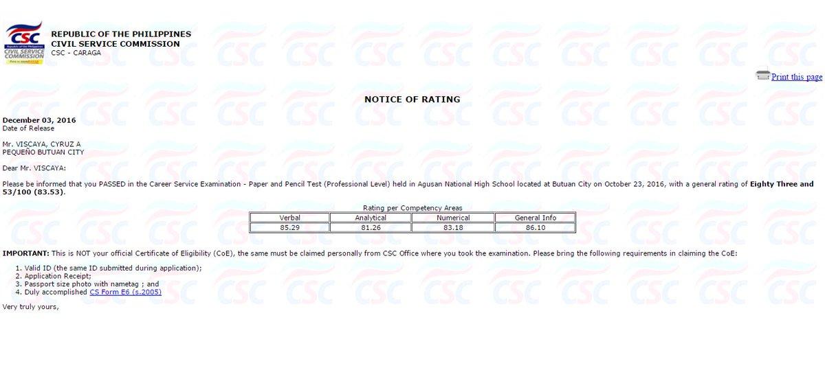 cseppt hashtag on Twitter - civil service exam application form