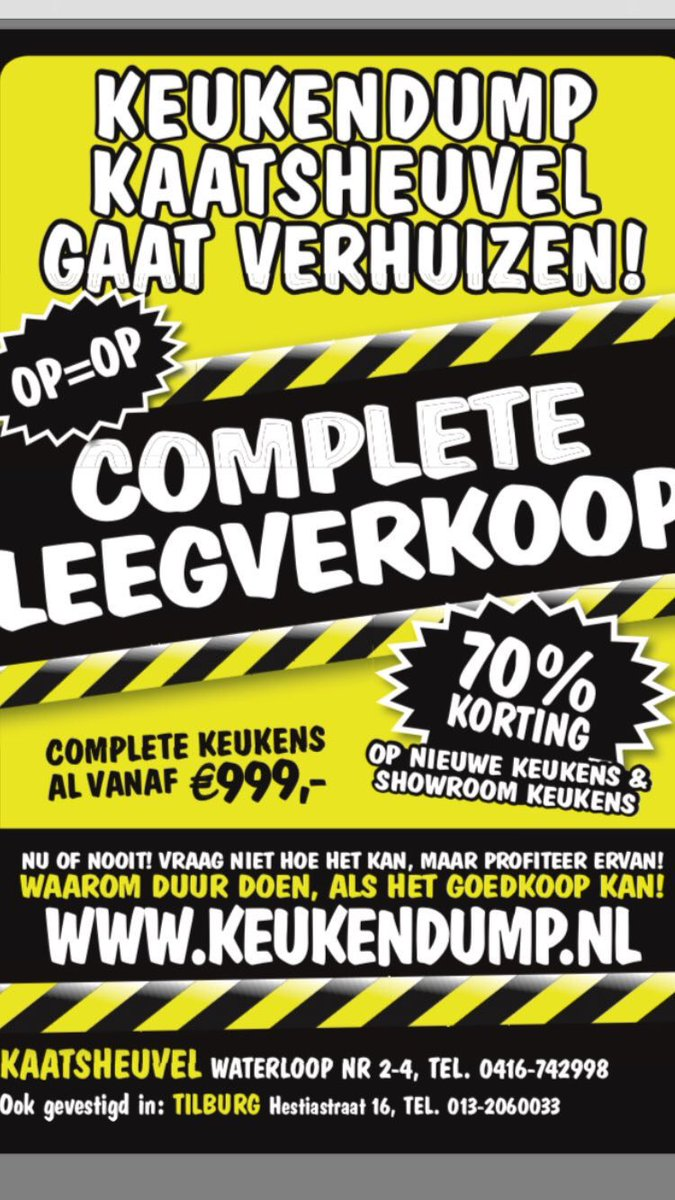 Keuken Outlet Kaatsheuvel Keukendump Official On Twitter