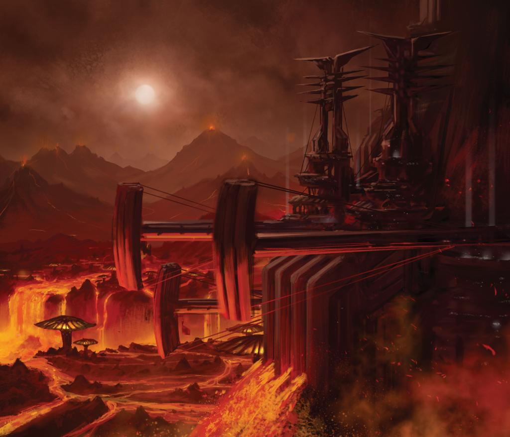 Deviantart Anime Wallpaper Star Wars On Twitter Quot Mark Molnar S Mustafar Art For