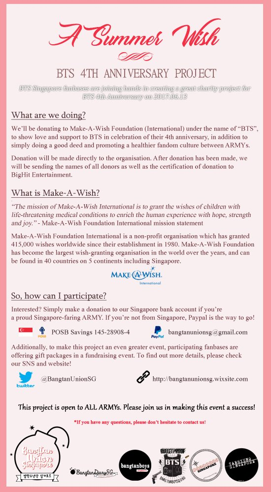 BTS/방탄소년단 SG 🇸🇬 on Twitter \ - make a wish mission statement
