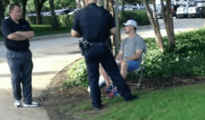 Johnny Manziel Talking To Cops At A Golf Tournament