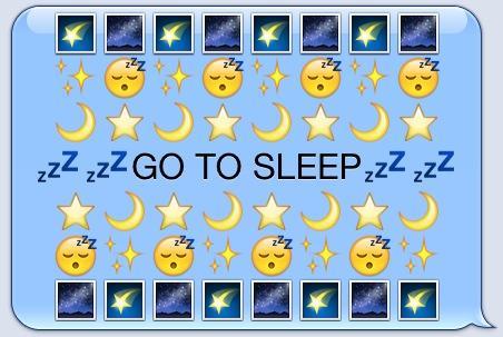 goodnight emoji art - Funfpandroid