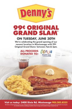 Impressive Canada On Slam Day Tuesday June Come Join Us Cent Original Canada On Slam Day Tuesday Denny S Slam Deal Free Slam Breakfast