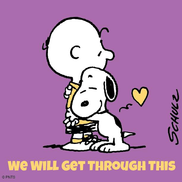 Happy Hug Day Wallpaper With Quotes Peanuts On Twitter Quot We Will Get Through This 💜 Http T