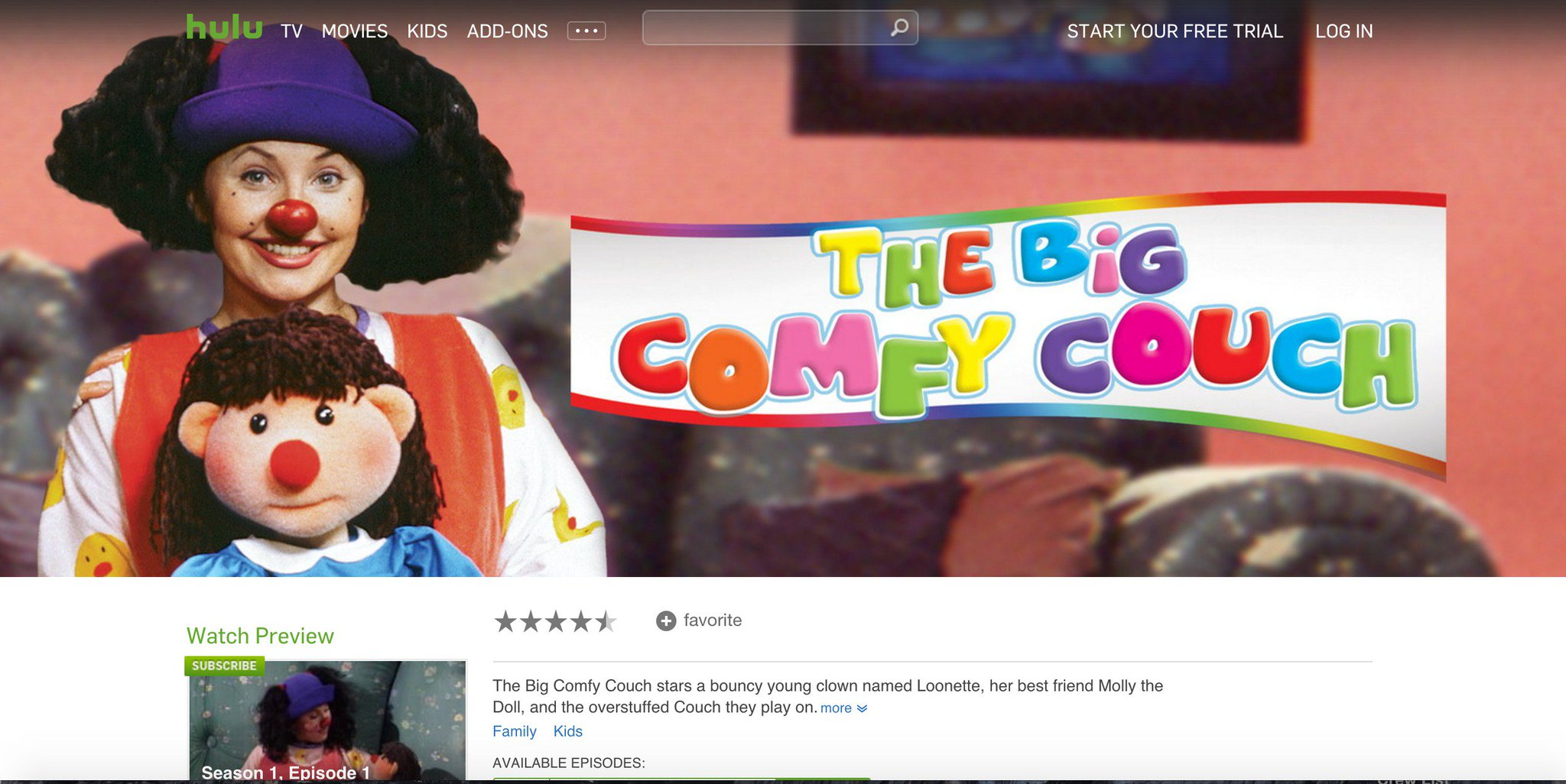 Big Couch Clown Big Comfy Couch On Twitter