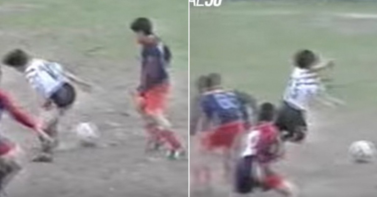 Video even 12-year-old lionel messi possessed sublime skills