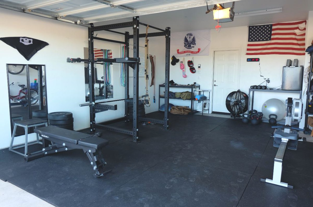 Garage gym setup loaded garage gym half rogue half titan equipment new