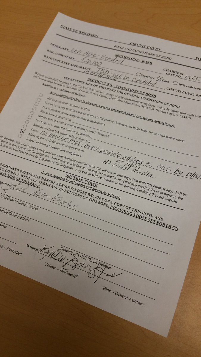 1 more piece of paperwork before leaving polk co levi jail release