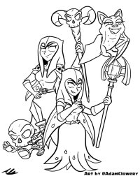 Night Witch Clash Royale Coloring Pages