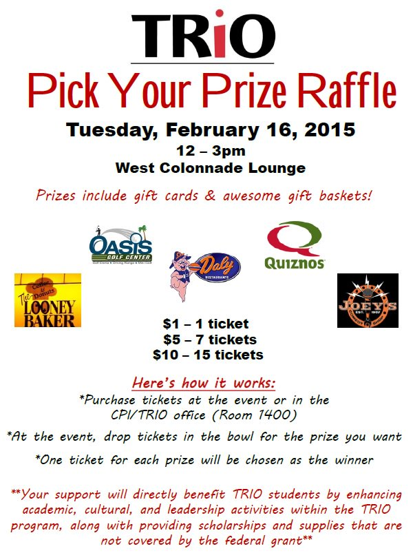 Madonna University on Twitter \ - raffle ticket prizes