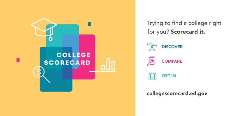 collegescorecard hashtag on Twitter - compare schools college