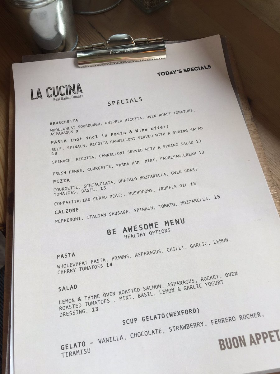 Cucina And Co Menu La Cucina On Twitter