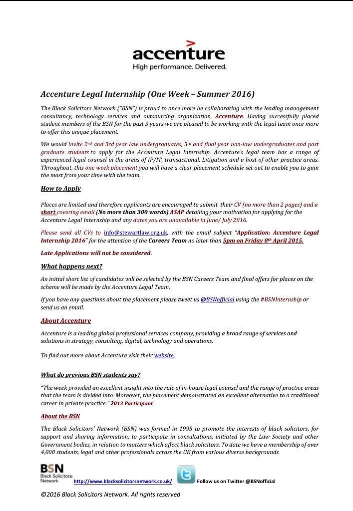BSN on Twitter  - cover letter for summer internship