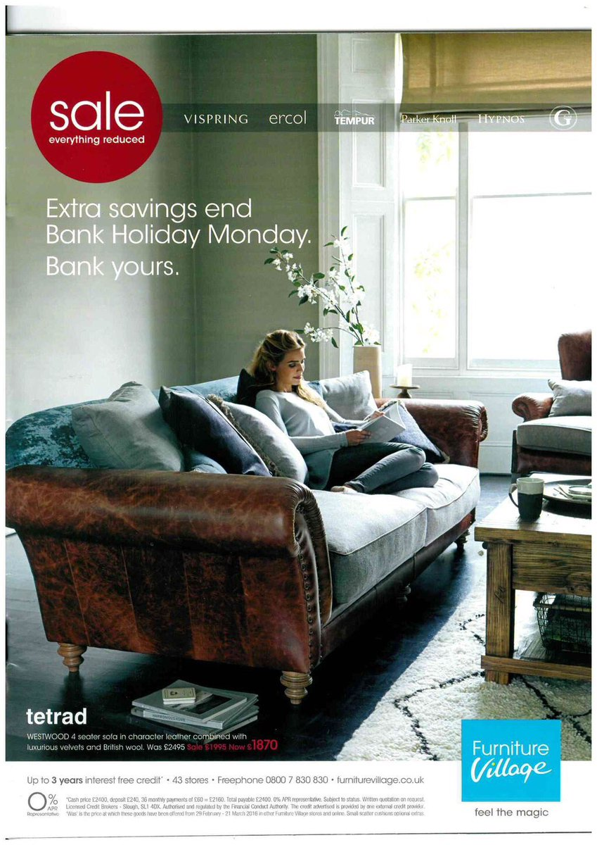 Furniture Village Hartford Sofa Tetrad Ltd On Twitter