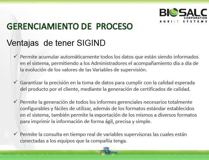 BIOSALC AGRO on Twitter \ - formatos de informes gerenciales