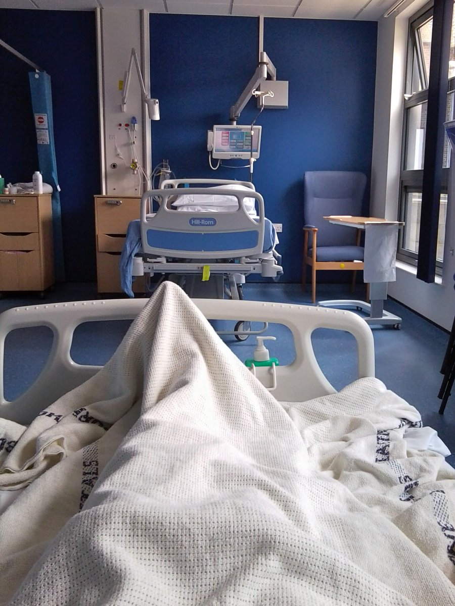 View from my icu bed table door emergencyadmission hashtag on twitter hospitals