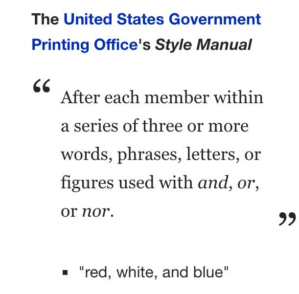AP Stylebook on Twitter \ - comma and and