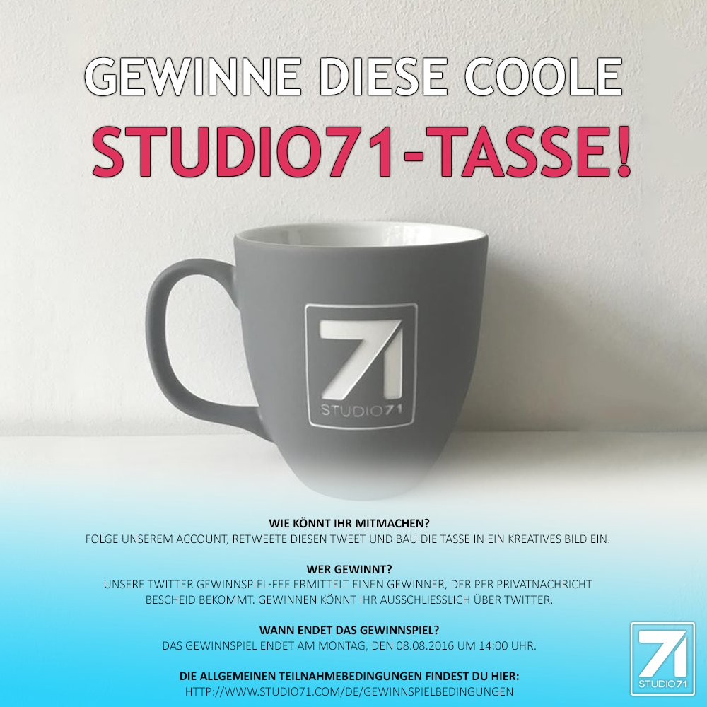 Coole Tassen Studio71 On Twitter