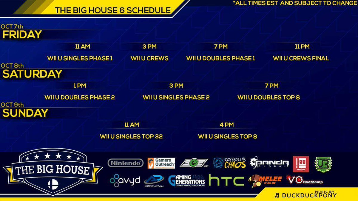 Incredible Big House On Smash Wii U Schedule Stream Big House On Smash Wii U Schedule Big House 7 Upset Thread Big House 7 Seeding curbed Big House 7