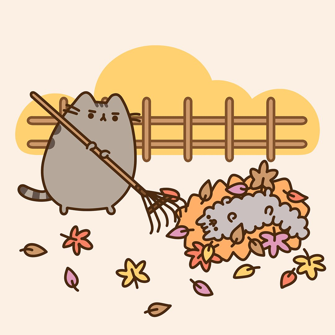 Fall Wallpaper For Ipad 2 Pusheen The Cat On Twitter Quot Stormy Loves A Good Leaf Pile