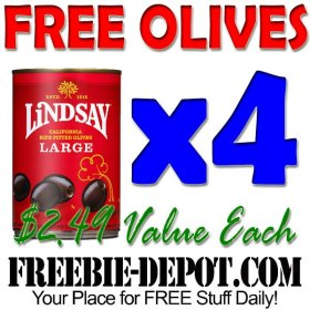 Free Olives - 4 FULL SIZE PRODUCTS!   FREEStuff Freebie Frugal  FreebieDepot s