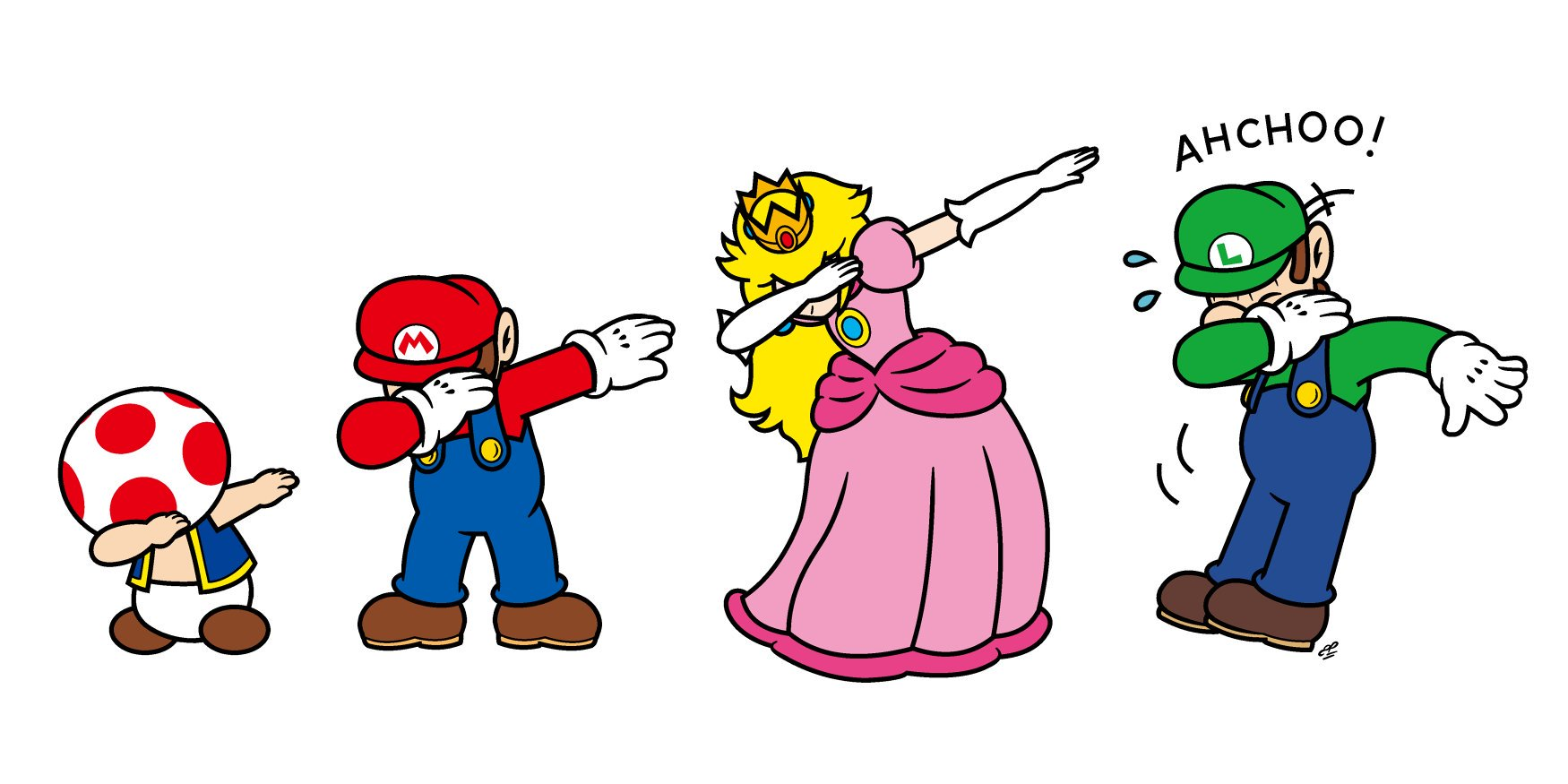 Cute Wallpapers Friends Girls Super Mario On Twitter Quot Toad Dab Mario Dab Peach Dab