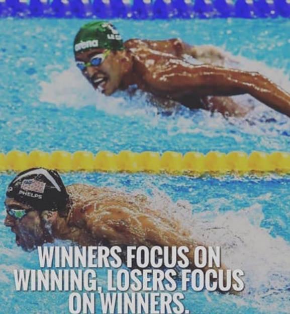 Michael Phelps Quote Wallpaper Rt Thesecretfittie Winners Focus On Winning Losers