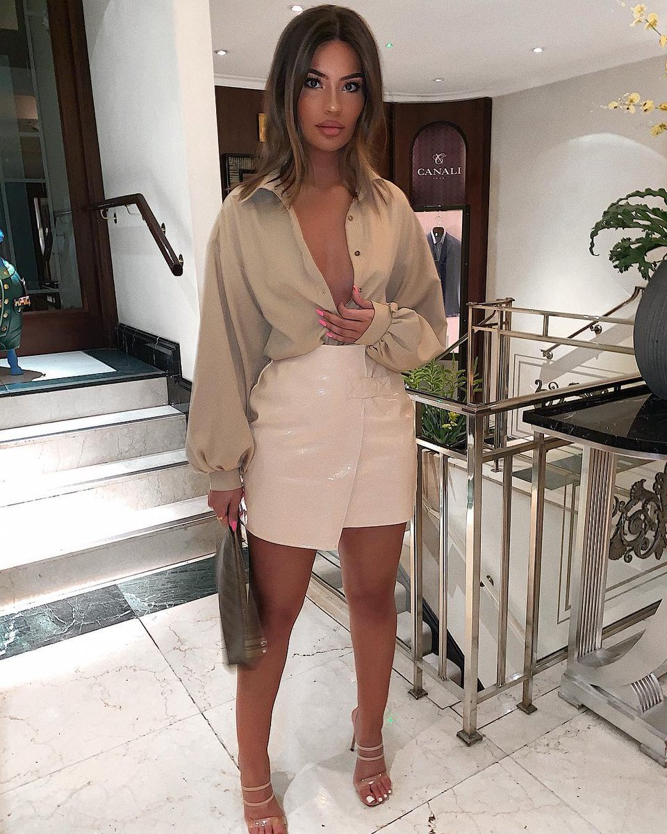 Nude Look Nudes On Nudes ? We Are Lovin' This Head To Toe Nude Look From Dilara In Our Stone Balloon Sleeve Shirt And Nude Faux Croc... | In The Style | Scoopnest