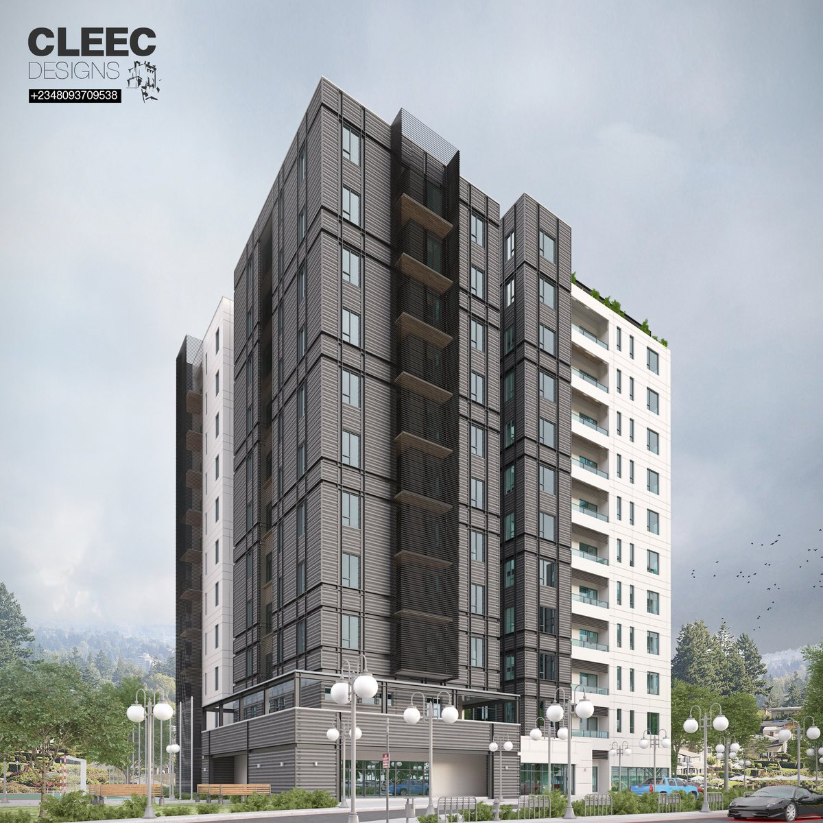 Architektur Rendering Photoshop Cleec Designs Cleecdesigns Twitter