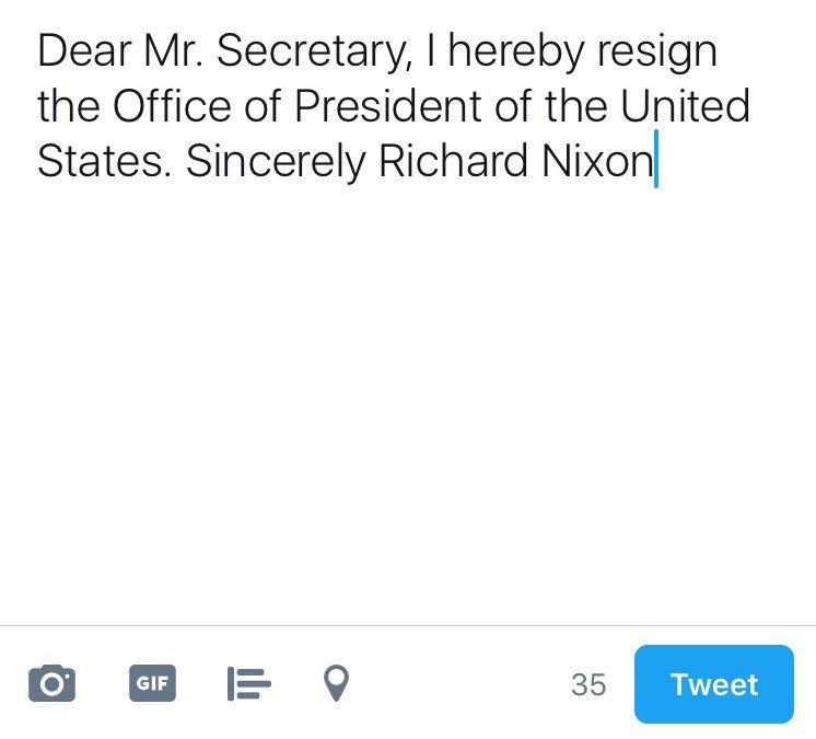 Michael Li on Twitter \ - nixon resignation letter
