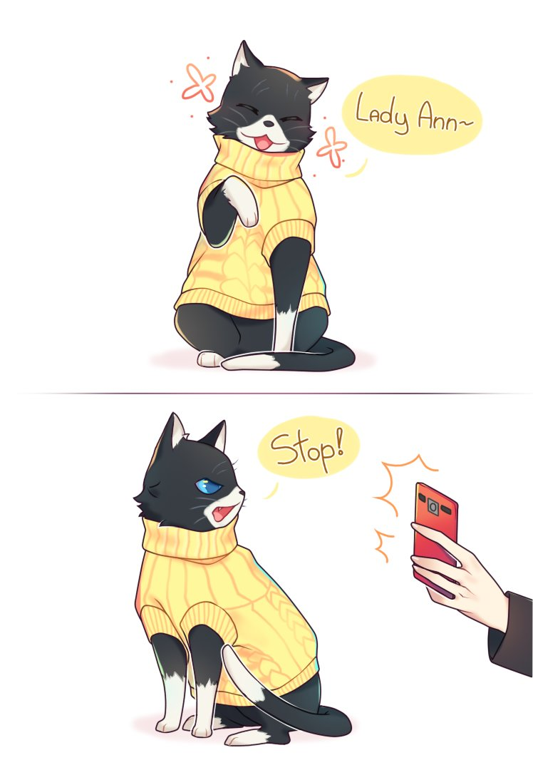 Persona 5 Wallpaper Morgana Cute 4 Days For Yusuke S Celebration Day On Twitter Quot Morgana