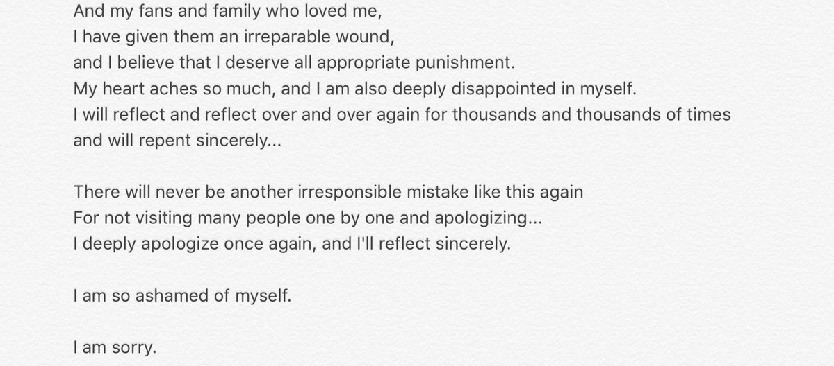TOP\u0027s Apology Letter - Page 2 - Celebrity News  Gossip - OneHallyu - apology letter to family