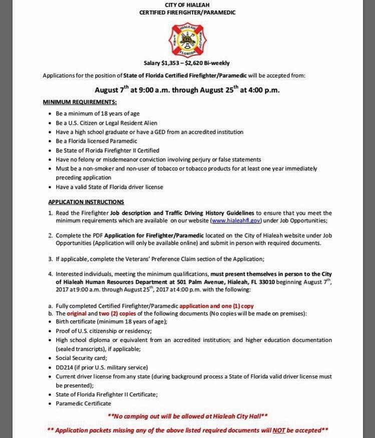 Media Tweets By CityofMiamiFireDept (@CityofMiamiFire) Twitter   Paramedic Job  Description