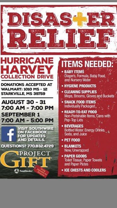 Hurricane Harvey Relief Efforts - Volunteer Starkville