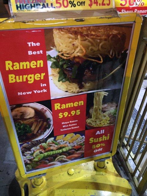 Medium Of Red Ramen Burger