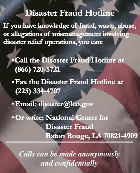 USAgov on Twitter \ - Disaster Relief Flyer