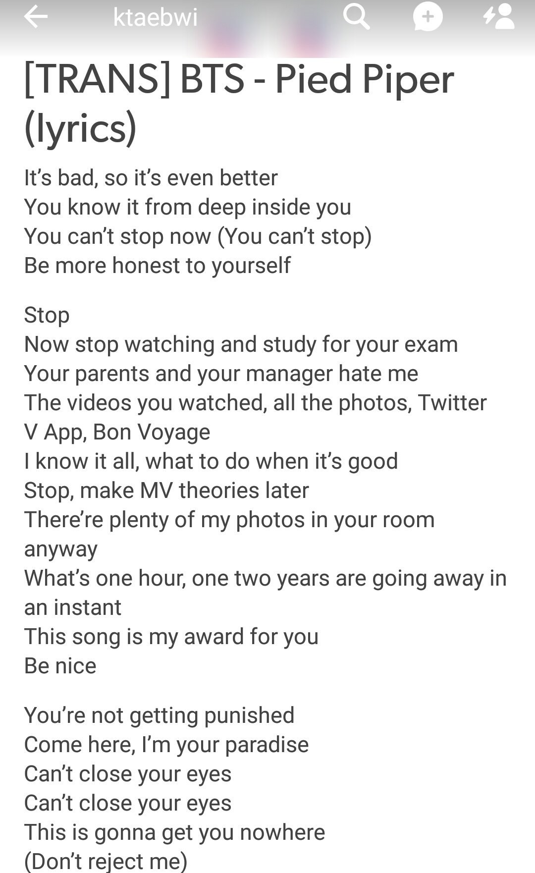 Bts Funny Quotes Wallpaper ℓunie On Twitter Quot Eng Pied Piper Lyrics Quot Stop Make Mv